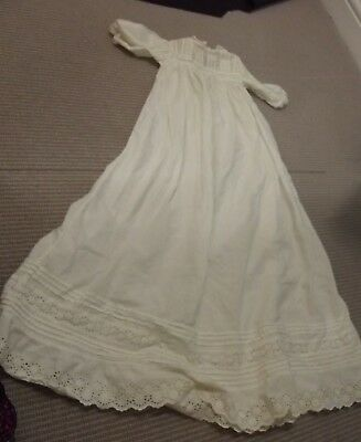 Pair of Antique Vintage Full Length christening Gowns