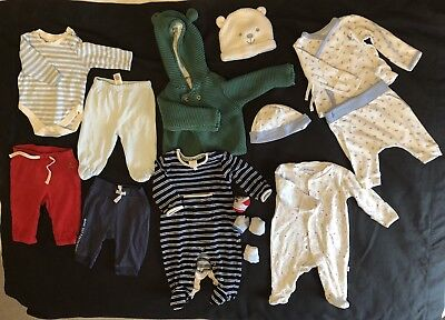 baby boy clothes 0-3 months used