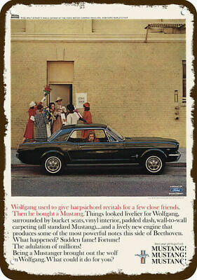 """1965 Ford Mustang Mustangers Have More Fun Original Print Ad 8,5 x 11/"""""""