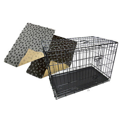Dog Pet Cage Puppy Crate Carrier With Non-slip Bedding 28mm - S M L XL XXL