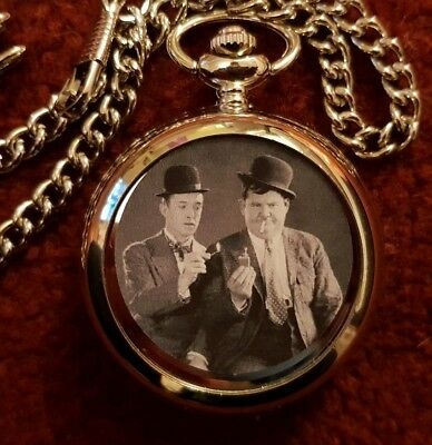 Laurel And Hardy   Pocket  Fob Watch New 5