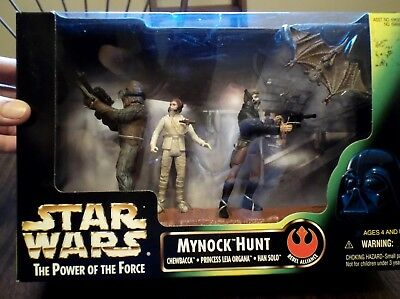 1998 Star Wars The Power of the Force MYNOCK HUNT Action Figure Set of 3 NEW