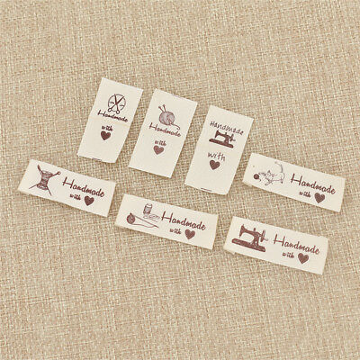 200 Pcs Cotton Labels Handmade Tags Clothes Sewing Garment Labels DIY