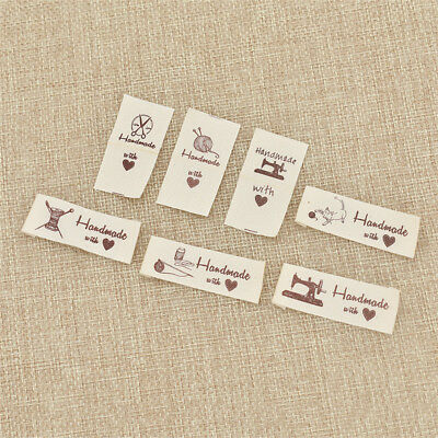 200pcs Cotton Tags Labels Handmade Clothes Sewing Patch Accessories DIY