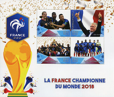 Madagascar 2018 MNH World Cup Football Russia France Winners 4v MS Soccer Stamps