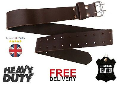 "Cutting Edge 2"" Wide 50"" Long Work Belt Real Brown Oil Tan Leather Tool Belt NEW"