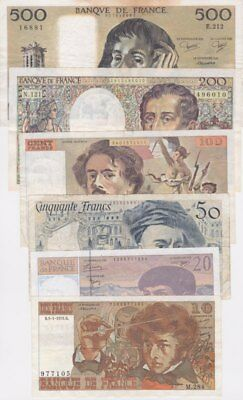 #Banque de France Banknotes Collection 1970s VF/XF Full Issue