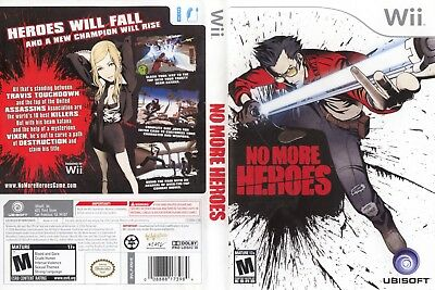 Nintendo Wii Replacement Game Case and Cover No More Heroes