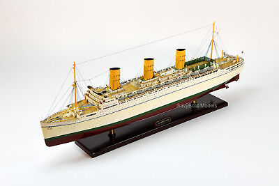 "RMS Empress of Britain Ocean Liner Handmade Wooden Ship Model 37"" Scale 1:250"