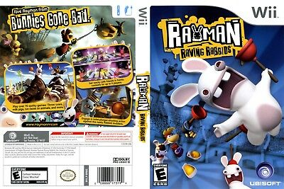 Nintendo Wii Replacement Game Case and Cover Rayman Raving Rabbids