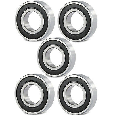 5 Pcs Premium 6801 2RS ABEC3 Rubber Sealed Deep Groove Ball Bearing 12x21x5mm