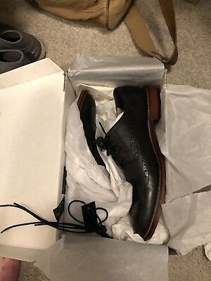 Banana Republic NEW in box Black Leather Hadley Wingtip  Mens 10.5 M Shoes Derby