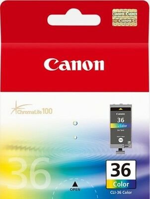 Genuine Original Canon 36 Pixma Colour Printer Ink Cartridge CLI-36 Color *New*