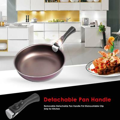 Removable Detachable Pan Handle Kit Pot Dismountable Clip Grip Kitchen Pan Clamp