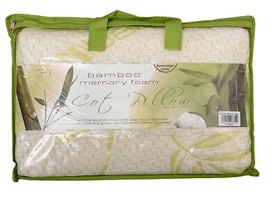 Infant Bamboo Memory Foam Cot Pillow - Nursing Pillow with Removable cover 25x40