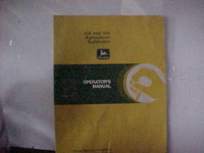 John Deere 534 & 544 Agricultural Bulldozers Operator's Manual ISSUE F8  (D)