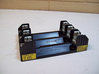 Buss R60030-3Cr Fuse Holder 30A 600V Bussmann Cooper - Used - Free Shipping