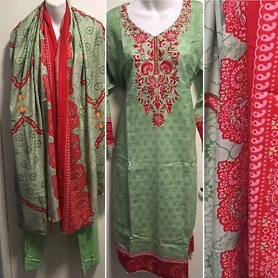 Embroidered Shalwar Suit With Pashmina Shawl-Ready to Wear