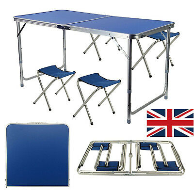 Folding Table Heavy Duty Trestle Camping Party Picnic BBQ Stall Garden UK Stock