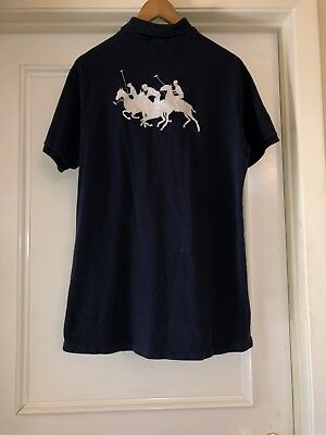 Mens Polo Ralph Lauren Big Logo #5 Polo Rugby New York 1967 Custom Fit Sz L