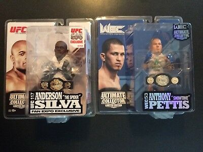 Ufc Collector Lot 2 Figure 1 Autograph Anderson Silva Fan Expo Anthony Pettis