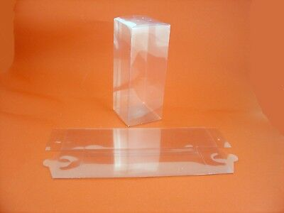 10 x clear Acetate Boxes 17.8 cms x 7 cms x 7 cms ideal for gift packaging