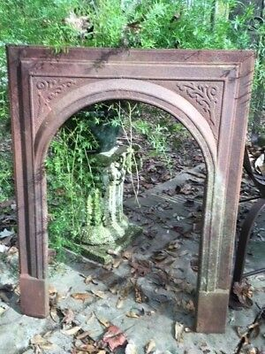 Antique Cast Iron Fireplace Surround Arched With Vinery You Choose Finish