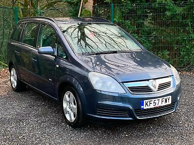 2007 '57' Vauxhall Zafira 1.6i 16v Club, 5 Door, Petrol, P/X to clear faults.