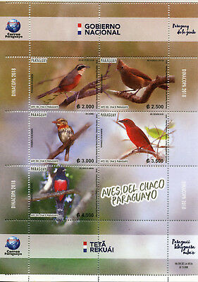 Paraguay 2018 MNH Birds of Paraguayan Chaco 5v M/S Bird Stamps