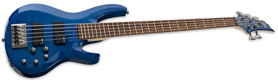 ESP B-205FM 5 String Electric Bass - See Thru Blue Finish - NEW!!