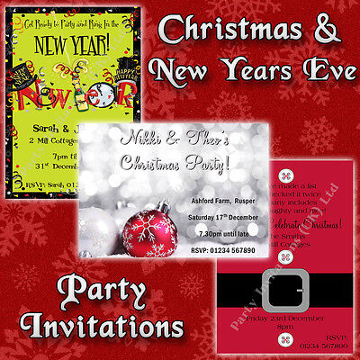 CHRISTMAS / NEW YEARS EVE Personalised Invitations / Hen Party Invites/Tickets
