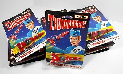 Thunderbirds Case Of 24 Alan Tracy Thunderbird 3 Diecast Matchbox 1994 Moc