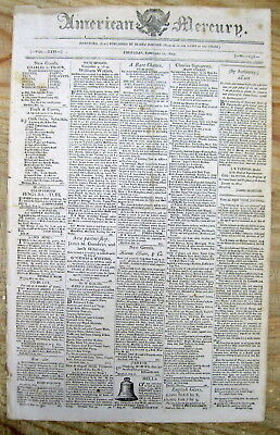 1810 newspaper Congress Acts to fight the BARBARY WARS against Algiers TRIPOLI &