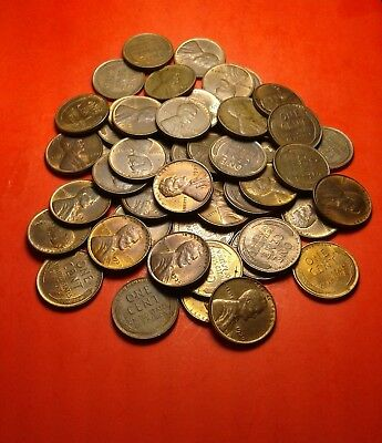 Full roll- 1939  Lincoln wheat pennies- high grade- nice