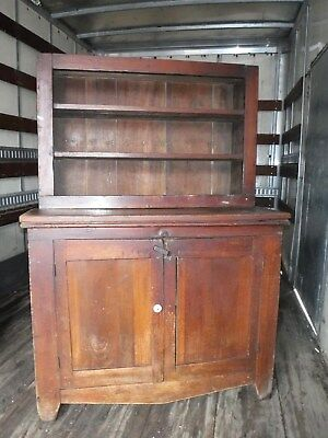 Antique wood Pantry Storage Cabinet kitchen Cupboard 2 door hutch food jelly