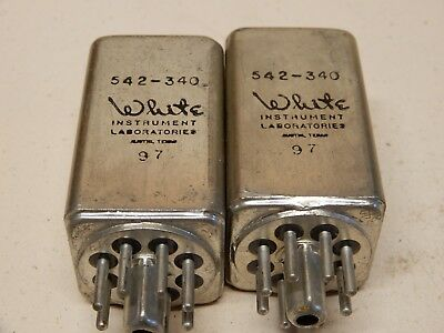 White Instruments Laboratories 542-340 Filters Quantity 2 Octal Base