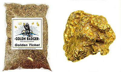 GOLDEN TICKET Gold Paydirt - Goldn Badger Panning Concentrate Bags - Nugget