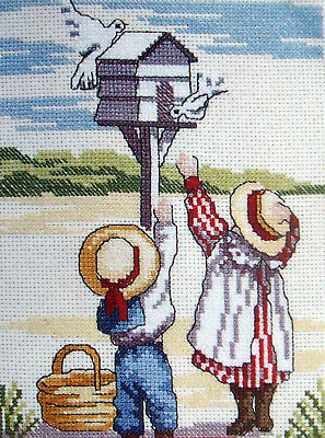 Cross Stitch Kit - DOVES - ALL OUR YESTERDAYS - Faye Whittaker DMC K4137 (CXB16)