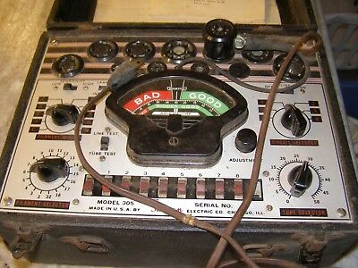 Vintage Simpson Model 305 Tube Tester With Manual