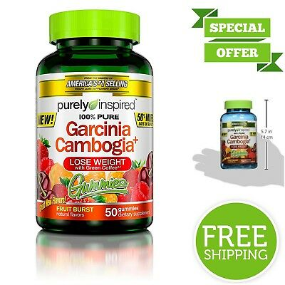 100% Pure Garcinia Cambogia Weight Loss Gummies Diet Supplement w/ Green  Coffee