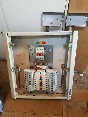 hager 2 distribution board box fuse consumer unit 8 way 3 phase lid hager distribution board fuse box used