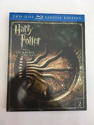 Harry Potter and the Chamber of Secrets [New Blu-ray]with Slip Cover (2 Pack)