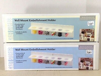 Storage Craft Wall Mount Embellishment Holder White Shelf Lot of 2