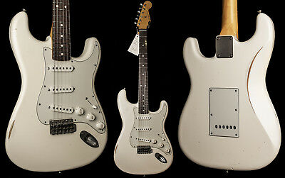 Nash S-63 Olympic White Electric Guitar - Light Aging