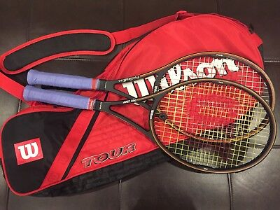 Wilson Pro Staff 85 (2 Racquets Plus Bag) 4 1/2