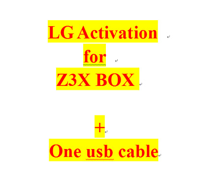 LG ACTIVATION FOR Z3X BOX for repairing LG BLACKBERRY Phones