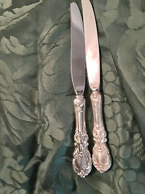 Set of two Sterling Silver,Handled Knives 9 in. Reed & Barton, Francis 1 Pattern