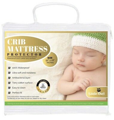 Waterproof Hypoallergenic Breathable Fitted Crib Mattress Pad - NEW SHIPS FAST!!