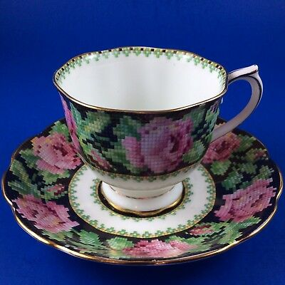 Royal Albert Crown Needle Point Bone China Tea Cup And Saucer -5 Sets Available
