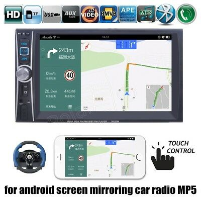 "2Din 7""Car Radio MP5 Player BT Stereo Touch Screen USB/AUX/SD Mirror Link"
